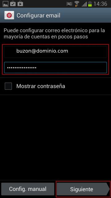Configuración Android 1